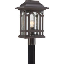 "Quoizel Cathedral 18.75"" Outdoor Large Post Lantern Palladium Bronze CAT9011PN"