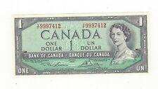 **1954**Canada Modified $1 Note, Lawson/Bouey BC-37d, Ser# VF 9997412