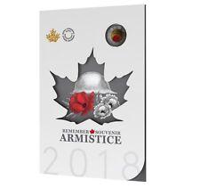 2018 Canada Armistice Centennial 1918-2018 Collector Card 6 coins: col & reg $2