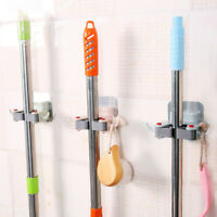 Wall Mount Mop Broom Holder Traceless Kitchen Bathroom Hanger Storage Organizer