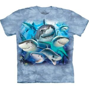 The Mountain Unisexe Requins Tee Shirt 100% coton USA Taille L