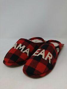 Dearfoams Women's Red/Black Slipper Size Medium (7-8 US)