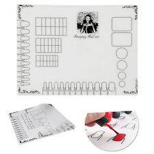 Nail Art Soft Silicone Stamping Plate Transfer Mat Sheet Table 40x30cm New