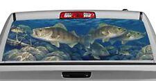 Truck Rear Window Decal Graphic [Fishing / Walleye] 20x65in DC80804