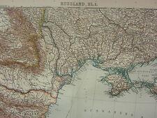 Carte datée 1907 ~ la Russie centrale Ouest ~ Roumanie la CrimГ © e CONSTANTINOPLE