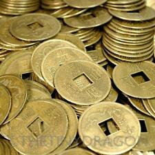 """LOT OF 20 LARGE FENG SHUI COINS 1.25"""" Diameter Lucky Metal Chinese Fortune Coin"""