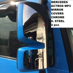 MERCEDES ACTROS MP3 MIRROR COVERS CHROME S. STEEL 2 pcs