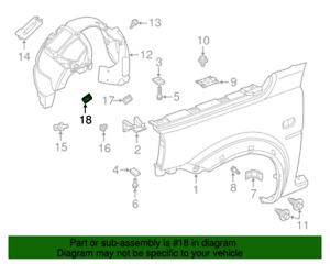 ( 1 ) GENUINE LAND ROVER CLI100020 Cover Clip-LF Wheel Liner 96-06 Freelander