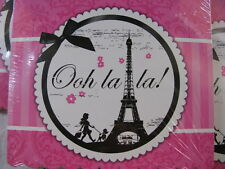 Paris Party Invitations Pink & Black Party Destination Ooh la la! 8/Pkg x3 NIP