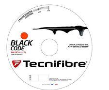 NEW TECNIFIBRE Black Code 1.28mm/16G Tennis String BlackCode - 200m - Fire