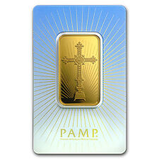 1 oz Gold Bar - PAMP Suisse Religious Series (Romanesque Cross) - SKU #94435
