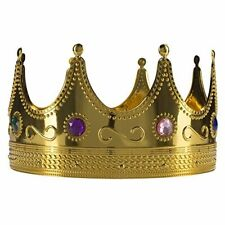 Fun Central AY970 Regal Gold King Crown, King Crown Toy Costume.