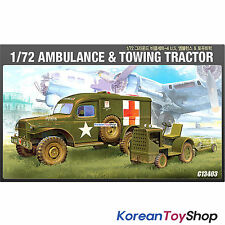 Academy 13403 1/72 Plastic Model Kit US Ambulance & Towing Tractor Series-4