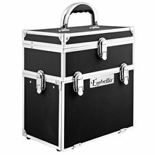 Embellir Portable Cosmetic Beauty Carry Case Box Black with Mirror