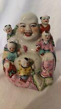 Bouddha en porcelaine polychrome