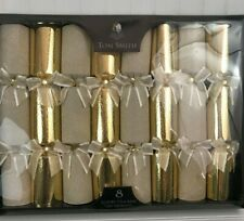 Tom Smith Gold Luxury Holiday Crackers 8 Count Table Decorations