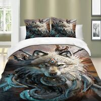 Wolf Quilt Cover Duvet Cover Set Twin/Full/Queen/King Size Bedding Set Animal
