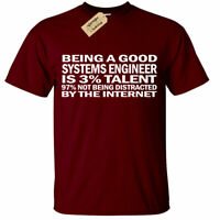 Systems Engineer T-Shirt Funny gift software computer internet it mens