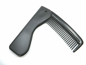 Black Folding Men's Pocket Hair Comb - Length 7'' / 4'' - Royal Rose Brand
