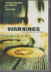 Warnings Les Signes De La Peur Dvd Stephen Baldwin A.J. Buckley Billy Zane