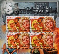 MARILYN MONROE & Arthur Miller / New York Stamp Sheet (2012 Burundi)