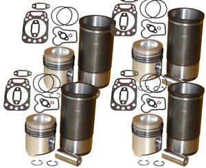 4x Zylinder, Kolben, Kopfdichtung MWM D225-4  Fendt Farmer Favorit 105 106 D 225