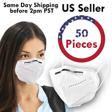 50PCS KN95 5Layer Disposable Respirator Face Mask Protective Earloop Mouth Cover