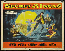 SECRET OF THE INCAS 1954 ORIG. MOVIE POSTER 22X28 CHARLTON HESTON ROBERT YOUNG