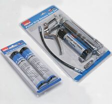 120cc Pistol Grip Grease Gun Kit with 3 x 3oz Cartridges Greasing Lube Set HILKA