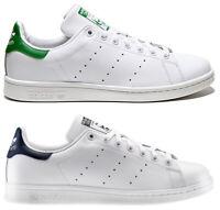 ADIDAS STAN SMITH MEN scarpe uomo sportive sneakers pelle bianche casual run
