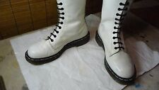 Dr. Martens Doc Doctor Made in England 20 eye White Tall Boot Sz 7 Vintage Nice