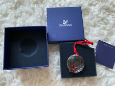Swarovski Scs Crystal Society Exclusive Christmas Ornament Red Flower Poinsettia