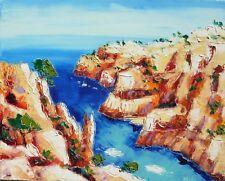 Grande toile de Nolac 50X40 cm tableau peinture calanque d'en-vau