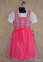 German Children's Trachten Dirndl Dress Oktoberfest Sizes 4-8 (Euro 104-128)