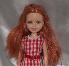 Barbie Sister Wee 3 Friends Stacie Lila Miranda Redhead Doll w/Red Gingham Dress