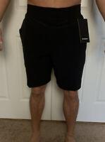Lululemon Mens Size L THE Short 9  Black BLK Linerless Train Core Run Yoga NWT