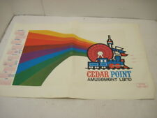 RARE 1970'S CEDAR POINT AMUSEMENT LAND PARK PAPER SCHOOL BOOK COVER CALANDER