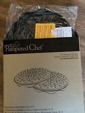New Pampered Chef Microwave Chip Maker Set of 2 Potato Chips 1241
