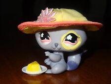 Littlest Pet Shop LPS 597 Purple Lavender Raccoon Pink Flower Hat Cake Forest