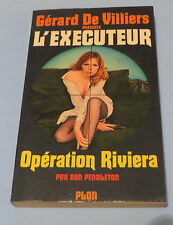 1970s GÉRARD DE VILLIERS PRESENTE L'EXECUTEUR FRENCH SEXY COVERS CRIME LOT OF 10