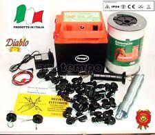 Recinto elettrico corrente Batteria Diablo 5000 con Corda da 6 Mm. ed Accessori