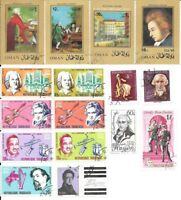 Stamps: Music & Composers, various nations, no duplicates, lot 4