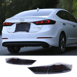 For Hyundai Elantra Tail Lights Assembly 2016-2018 Smoke Color LED Rear Lamps