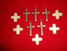 Rosenkranz Material Holzkreuz Kreuz 10 Stück sortiert Basteln