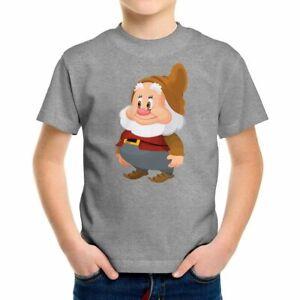 Kids Boys Girl Teens Toddler Tee T-Shirt Gift Snow White Seven Dwarfs Happy