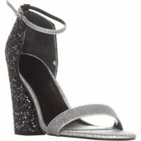 Guess Womens Bam Bam 3 Open Toe Ankle Strap Classic, Silver Multi, Size 6.5 TWDt