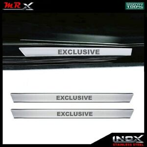 Chrome Door Sill Protector EXCLUSIVE 2dr 2pcs S.STEEL For SCION iQ 2012 to 2015