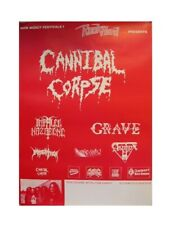 Cannibal Corpse Grave German Tour Poster