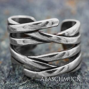 Silberring Silber 925 Ring  Verstellbar Offen R0763 💦