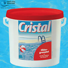 Cristal Chlorgranulat 5 kg schnell löslich Desinfektion Pool Schnell Chlor Gran